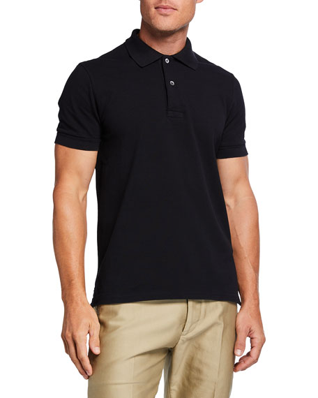 TOM FORD Men's Tennis Pique Garment-Dyed Polo