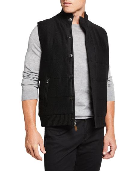 Neiman Marcus Men's Quilted Button-Front Vest