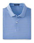 Peter Millar Men's Miles Striped Stretch-Jersey Polo Shirt