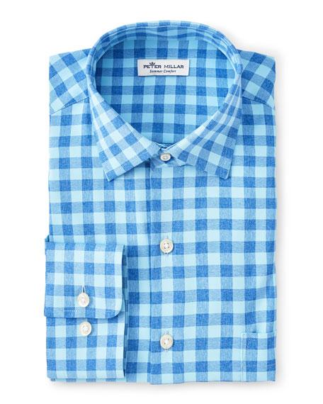 Peter Millar Men's Natural Touch Check Sport Shirt