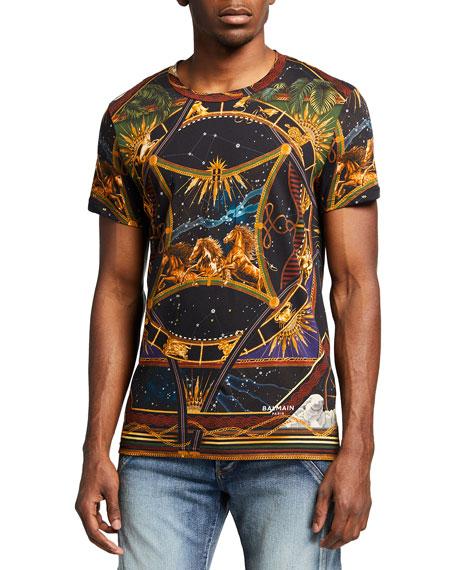 Balmain Men's Astrological Jersey T-Shirt