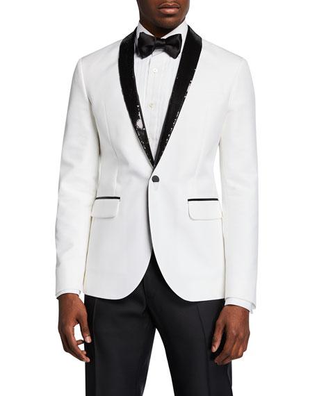 Dsquared2 Men's Two-Tone Sequin-Lapel Tuxedo Jacket