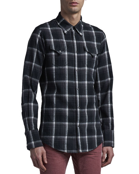 Dsquared2 Men's Plaid Flannel Western Shirt