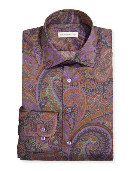 Etro Men's Paisley Cotton Dress Shirt