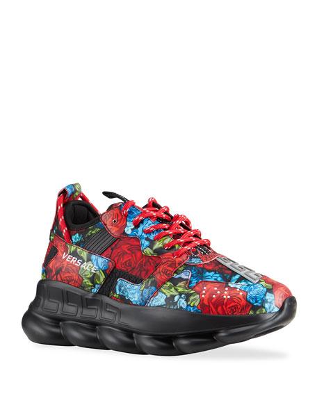 Versace Men's Exclusive Floral Chain Reaction Sneakers