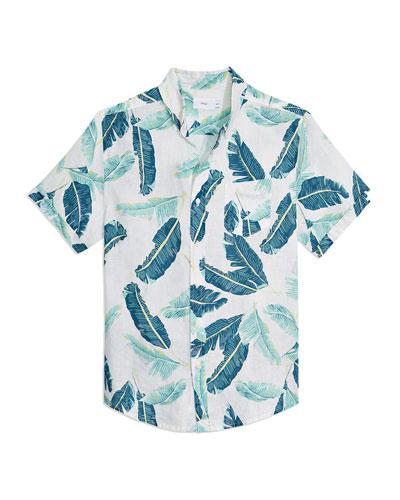 Men's Jack Falling Leaves Linen Sport Shirt