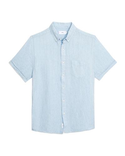 Men's Jack Solid Linen Sport Shirt