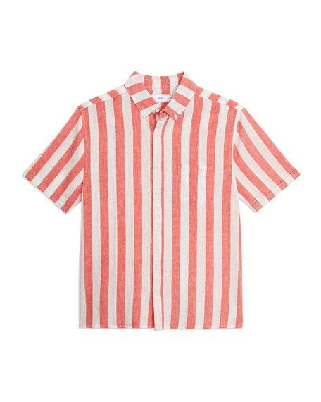 Onia Men's Jack Macro-Stripe Short-Sleeve Sport Shirt