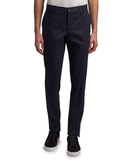 Etro Men's Tonal Diamond Jacquard Chino Pants