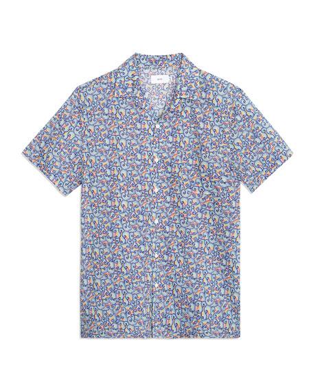Onia Men's Vacation Abstract Shapes Liberty-Print Camp Shirt