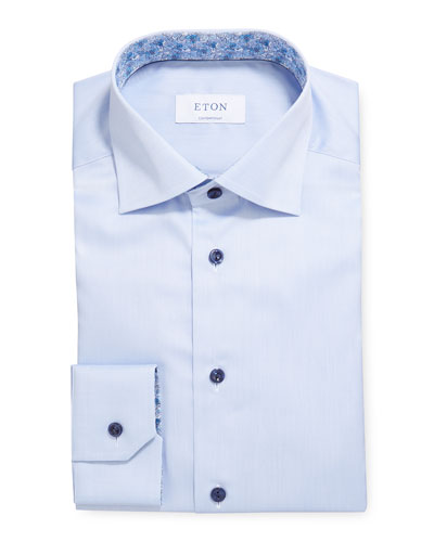 Men's Contemporary-Fit Contrast-Collar & Cuff Dress Shirt