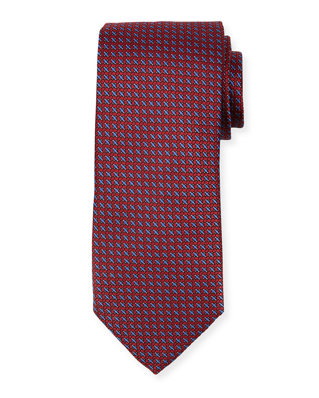 Men's Micro-Basketweave Silk Tie