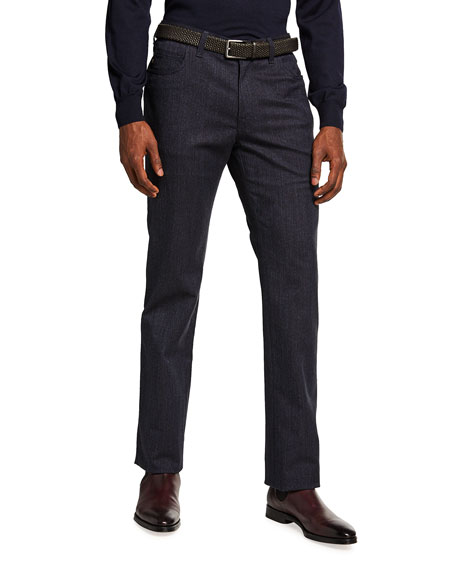 Brioni Men's Dark-Wash Denim Pants