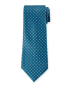 Ermenegildo Zegna Men's Alternating Diamonds Silk Tie