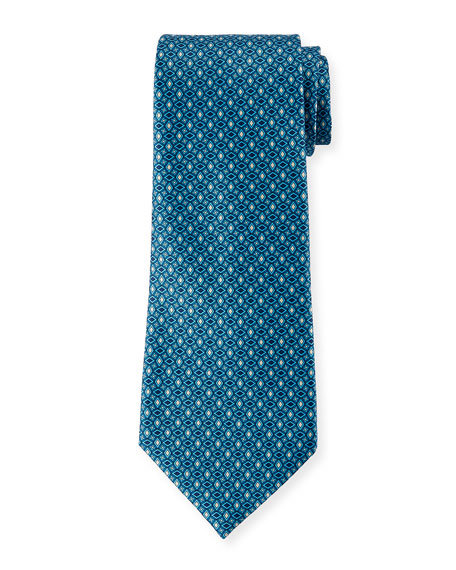 Ermenegildo Zegna Men's Alternating Diamonds Silk Tie