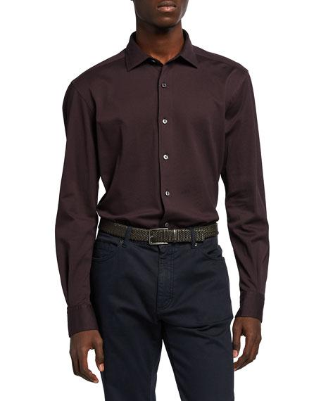 Ermenegildo Zegna Men's Solid Jersey Sport Shirt