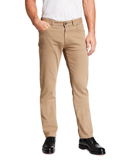 Canali Men's Straight-Leg Cotton-Stretch Pants
