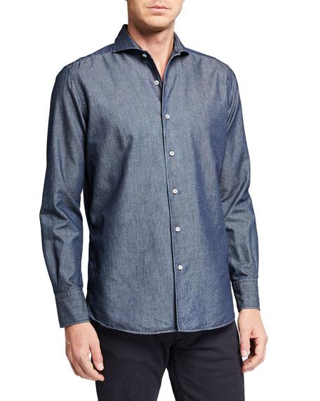 Canali Men's Chambray Sport Shirt