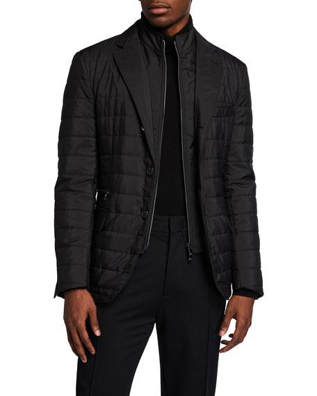Corneliani Men's Quilted Travel Blazer w/ Zip-Front Bib