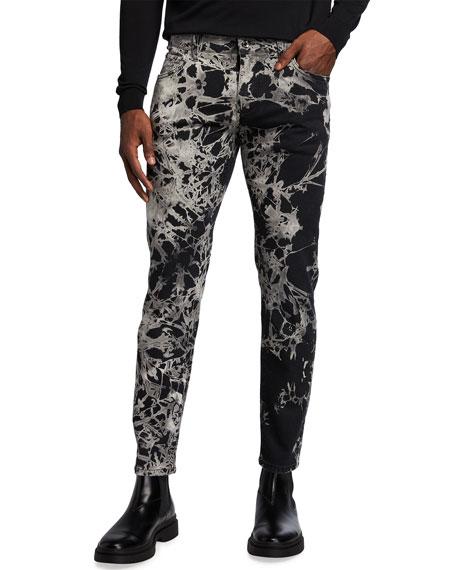 Dolce & Gabbana Men's Slim-Fit Tie-Dye Jeans