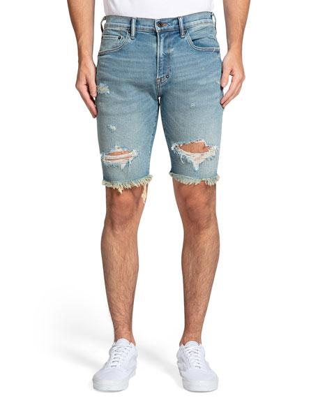 PRPS Men's Distressed Cutoff Denim Shorts