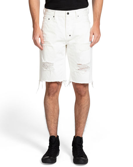 PRPS Men's Ashland Shredded Denim Shorts