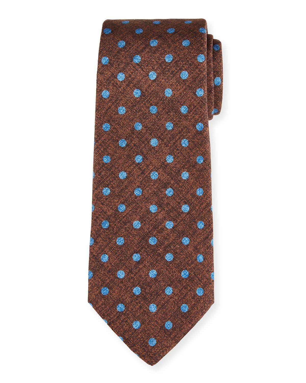 Men's Polka Dot Silk Tie