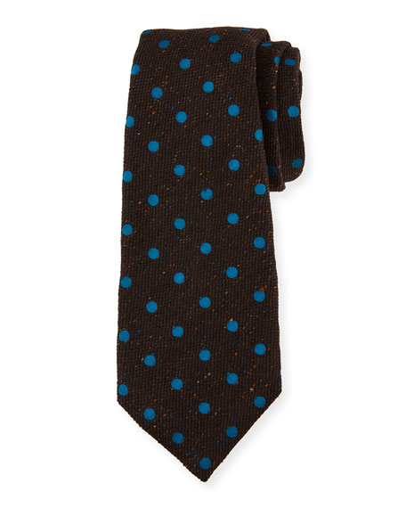 Kiton Men's Dotted Wool-Blend Tie