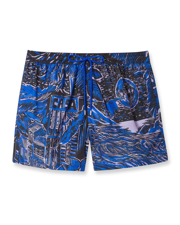 Men's Chilean-Print Swim Shorts