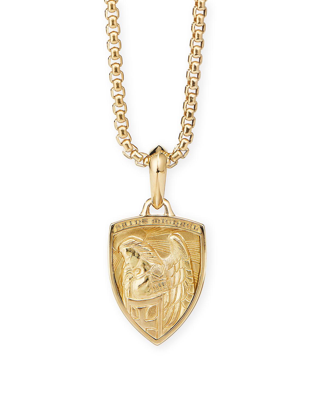 Men's 18k Yellow Gold St. Michael Amulet