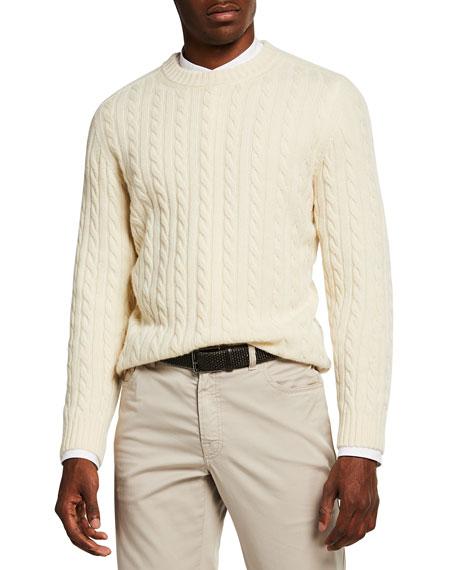Brioni Men's Cable-Knit Cashmere Sweater