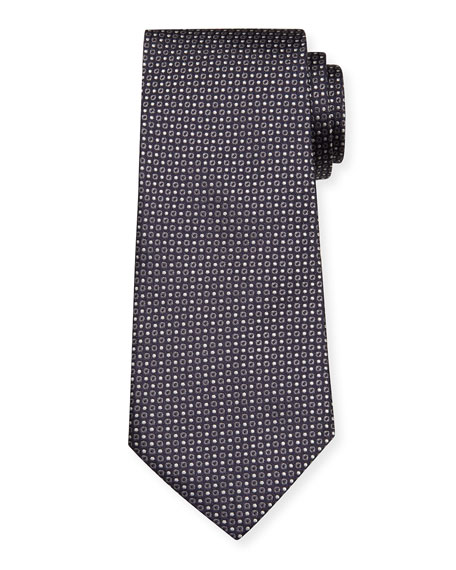Giorgio Armani Men's Mini-Dot Silk Tie