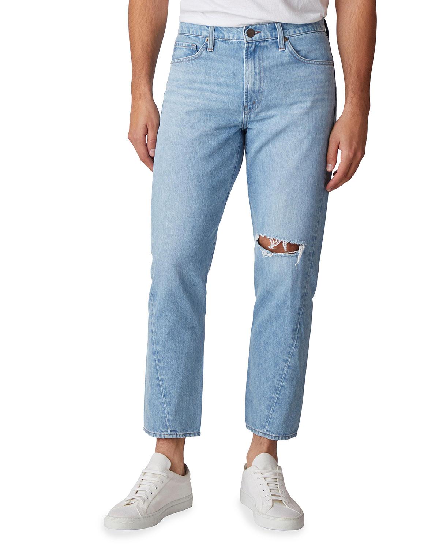 Men's J3D Cropped Knee-Rip Jeans