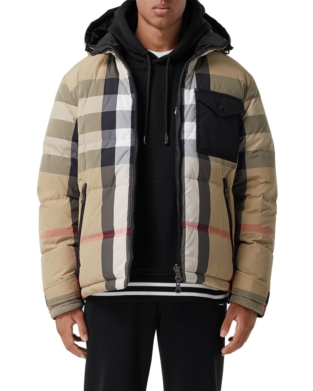 Men's Rutland Check Reversible Down Jacket