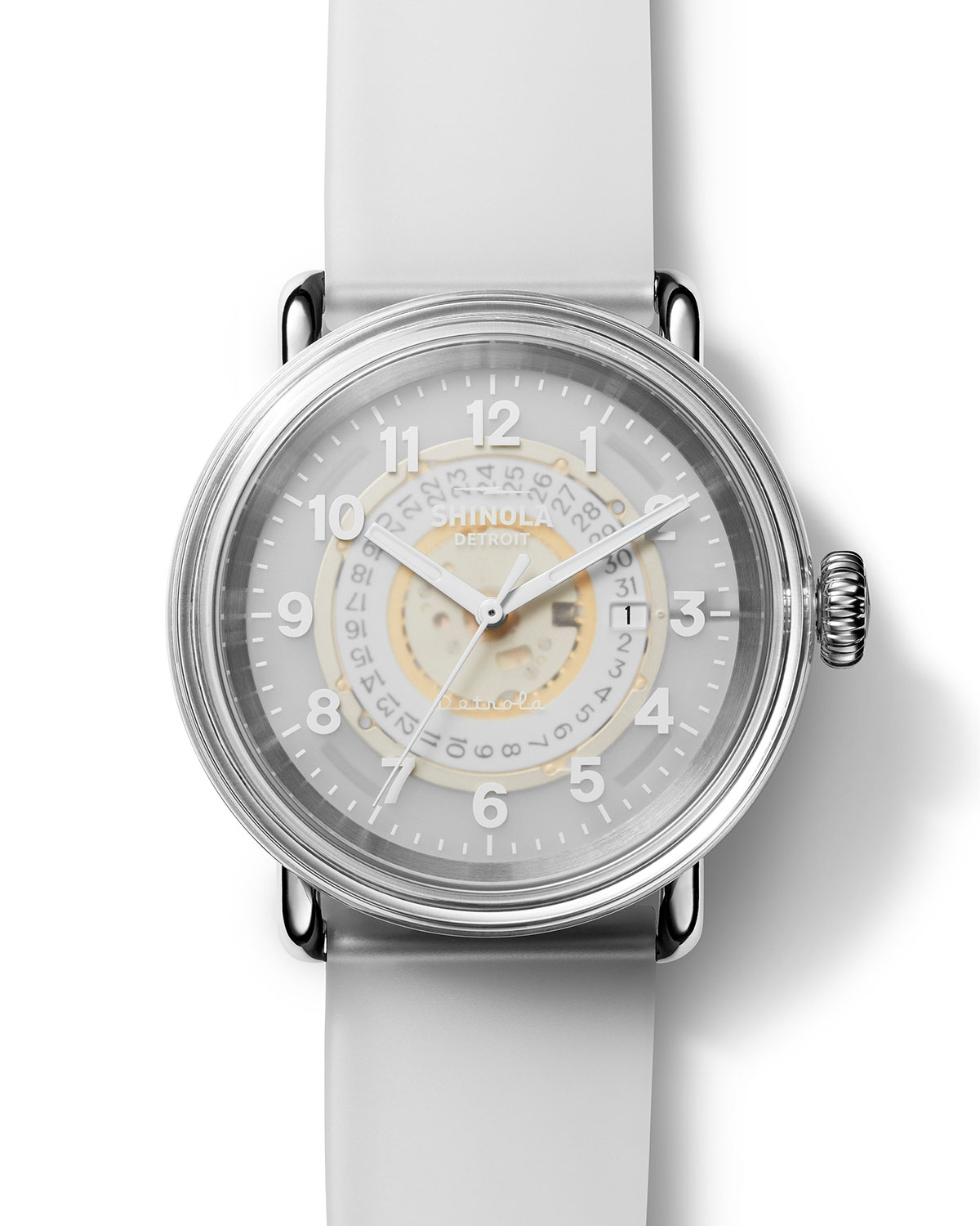 43mm Detrola The Middle Child Watch w/ Semi-Transparent Silicone Strap