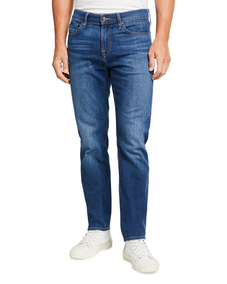 7 for all mankind Men's Slim Medium-Wash Stretch Jeans