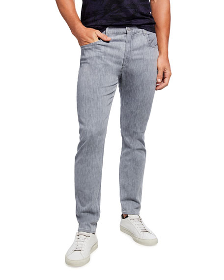 7 for all mankind Men's Luxe Performance: Left Hand Adrien Slim Taper