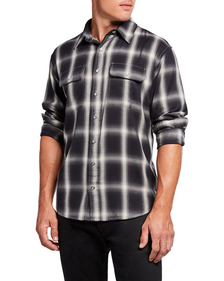 PURPLE Men's Lightweight Reverse Flannel Sport Shirt