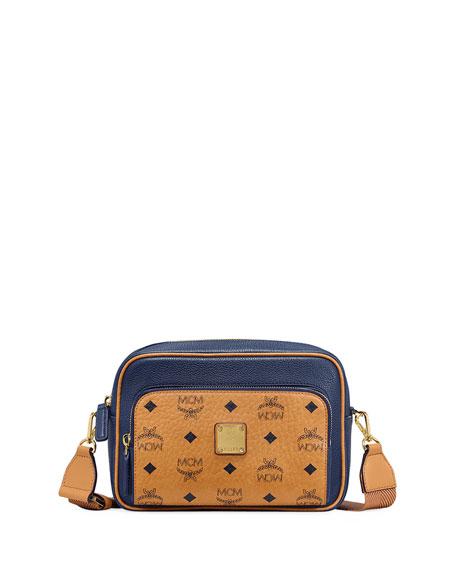 MCM Men's Klassik Visetos Leather Small Crossbody Bag