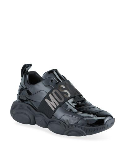 Black Patent Sneaker | Neiman Marcus