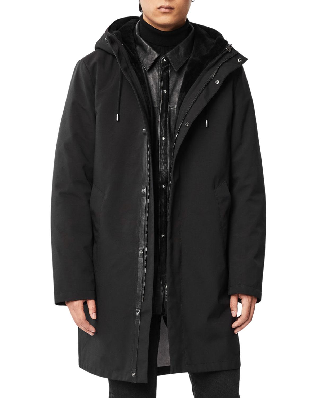 Men's Vincent 3-In-1 Topcoat w/ Leather Liner