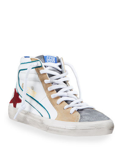 Men's Slide Colorblock High-Top Sneakers