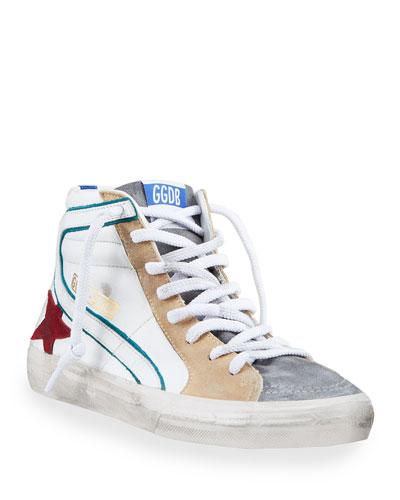 Men's Slide Colorblock High-Top Sneakers
