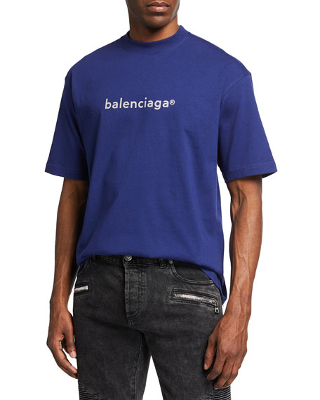Balenciaga Men's Copyright Logo T-Shirt