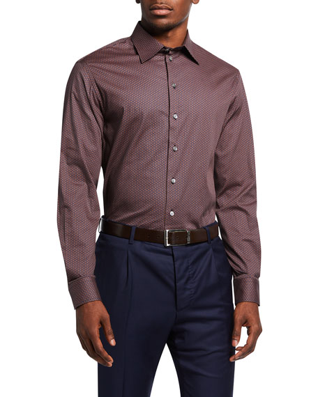 Emporio Armani Men's Geo-Pattern Sport Shirt