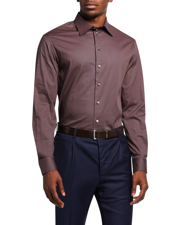 Men's Geo-Pattern Sport Shirt
