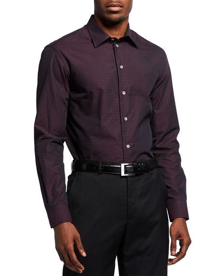 Emporio Armani Men's Micro-Dot Sport Shirt