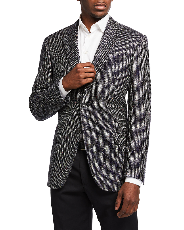 Men's Multicolor Tweed Sport Jacket