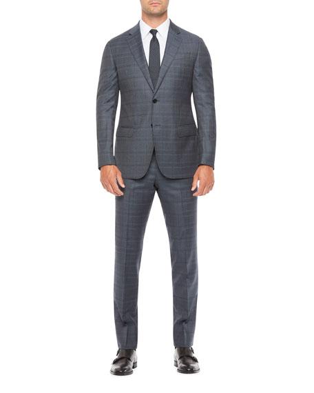 Emporio Armani Men's Two-Piece Large Plaid Suit