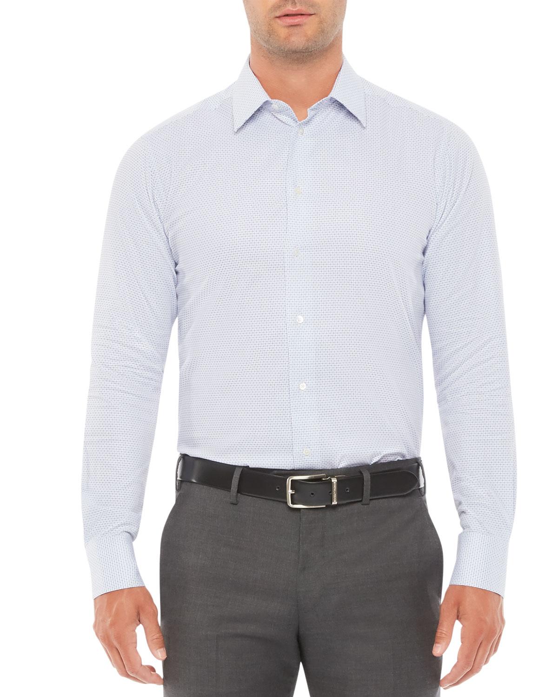 Emporio Armani MEN'S MICRO-BOX DRESS SHIRT